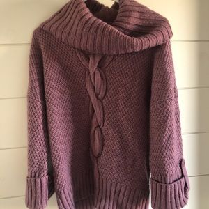 Talbots Violet Cowl Neck Sweater
